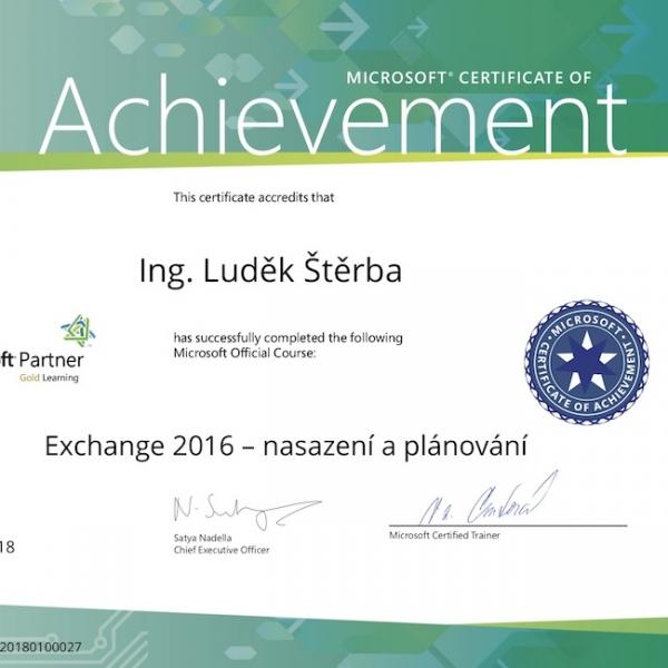 Exchance 2016 Štěrba